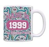 21st Birthday Gift Made 1999 Paisley Birthday Mug Decorations Gift Coffee Mug Tea Cup Paisley