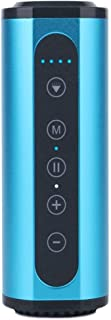 TDCQQ Waterproof Bluetooth Speakers, 5W Outdoor Speakers Bluetooth 4.0, 20-Hour Playtime with 6000mAh Power Bank, TWS, Built-in Mic (Color : Blue)