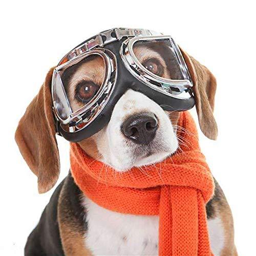 Huisdier zonnebril, schattig honden Cool stijl bril groot frame UV zon bescherming verstelbare zachte hond reizen zonnebril, Transparant