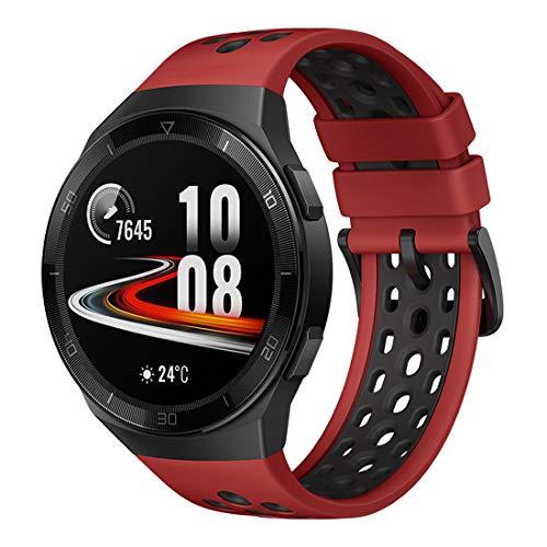 Huawei Watch GT 2e Sport – AMOLED Smartwatch 1,39 Zoll Display, 2 Wochen Akkulaufzeit, GPS, Rot