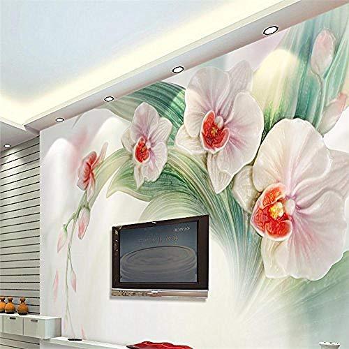 Tuin Orchidee Bloemen Plant Series Hd Print Grote Zijde Mural Art Muurschildering Poster Beeld voor Woonkamer Slaapkamer Ho Aangepaste 3D Behang Plakken Woonkamer De Muur voor Slaapkamer Mural 200 cm.