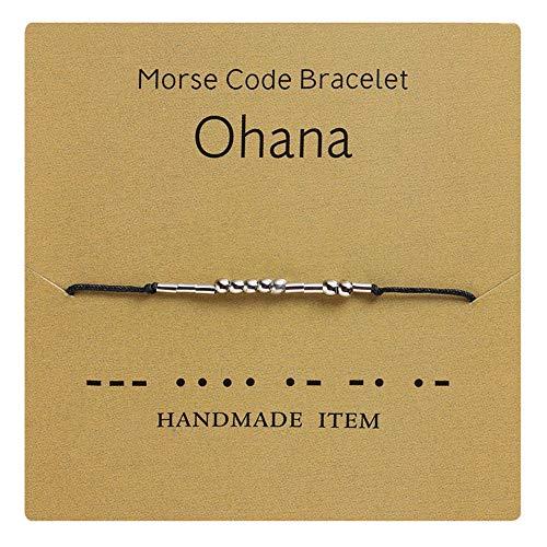 18K roestvrij staal Fuck Off Morse Code armband handgemaakte kralen verstelbare armbanden geheime boodschap Manchet armband inspirerende vriendschap sieraden cadeau inspirerende armbanden voor haar
