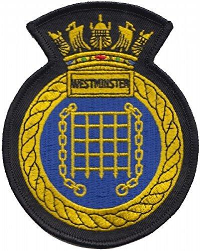 1000 Drapeaux HMS Westminster RN Parc de Surface de la Royal Navy Crest Mod brodée Patch