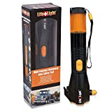 LED Emergency Flashlight Car Window Breaker and Seatbelt Cutter - Hand Crank Charger Water Resistant Multi-Purpose Hand Crank Flashlight, Emergency Car Escape Toolkit, Flashlights