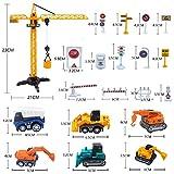 Findema Juegos de Juguetes para vehículos de Obra, Juguetes de ingeniería para niños, Tractores, excavadoras, grúas, Camiones de volteo, excavadoras, Cemento, apisonadoras