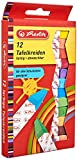 Herlitz Tafelkreide, 12 Stück in Hängepackung, farbig sortiert