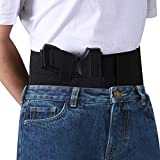Belly Band Holster for Concealed Carry, Accmor Breathable Waistband Gun Holsters with Magazine Pocket/Pouch for Men and Women, Right Hand Draw, Fits up to a 37' Belly