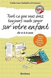 livre cadeau Tout ce que vous avez toujours voulu savoir sur votre enfant de 0 à 6 ans
