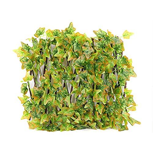 Hotar Valla extensible de hojas falsas, resistente al agua y a la corrosión, para decoración de jardín
