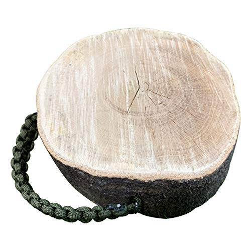 [メロウストア] 森の薪割り台 コンパクト 樫の木 水中乾燥 ハンドル付き 取っ手付き 着火台 火口台 大サイ...