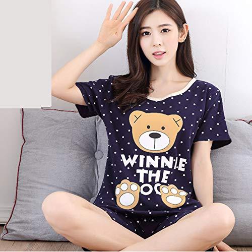 Handaxian New Pyjama Anzug Frauen Kurzarm Cartoon niedlichen Pyjama Mädchen Pyjama Frauen Geschenke 3 XL