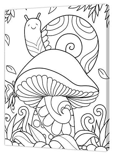 Pintcolor 9086 Cadre avec toile imprimée à colorer, bois, blanc/noir, 30 x 40 x 3,5 cm, 100 % fabriqué en Italie