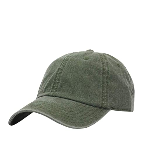 Hunter for Life Olive Green Washed Cotton Vintage Baseball Cap.