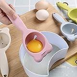 NNMNBV Eiertrenner für Zuhause, Küche, Küchenwerkzeug, Koch, Essen, Kochutensilien, Kunststoff, Weißes Eigelb Rose