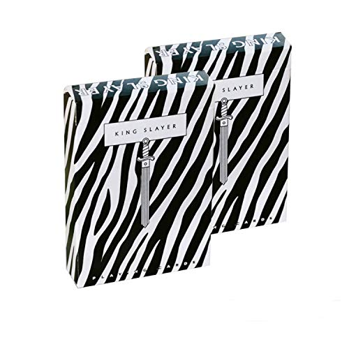 Shop4top 2 Decks Zebra King Slayer Ellusionist Kartenspielen Karten Deck Neu