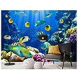 Papel tapiz fotográfico 3d personalizado murales 3d papel tapiz de pared El acuario de coral de peces pequeños está decorado con la decoración de la pared del mundo submarino