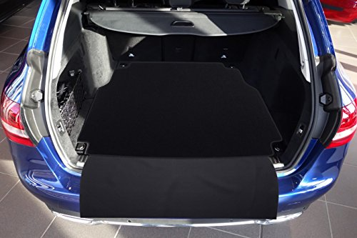 tuning-art 2605 Auto Kofferraummatte mit Ladekantenschutz 2-teilig