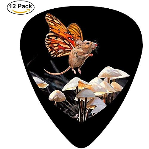 Sherly Yard Butterfly Mice Celluloid Guitar Picks 12 Pack para guitarra acústica...