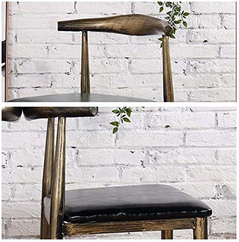 Ensemble de 2, Chaise industrielle rétro classique salle à manger métal intérieur-extérieur 7 couleurs utilisation- (Color : D) G