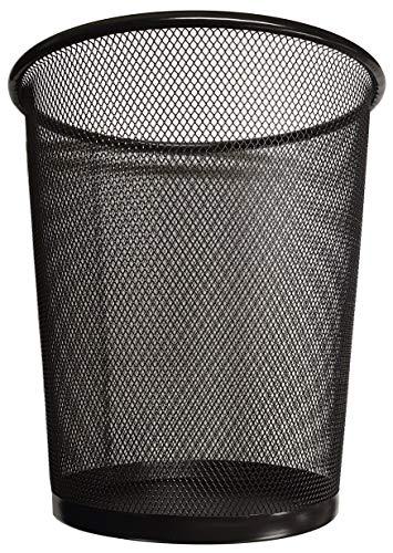 Divchi Runder Drahtgeflecht-Papierkorb, Mülleimer, für Badezimmer, Küche, Heimbüro, Schlafsaal Abfallkorb aus Netzgewebe Schwarz