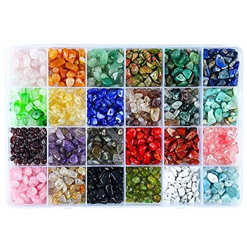 Kmuing Perles de Pierres PréCieuses à Puce Naturelle PéPite de Forme IrréGulièRe Perles de Cristal en Vrac Pierre de Quartz pour Kits de Fabrication de Bijoux