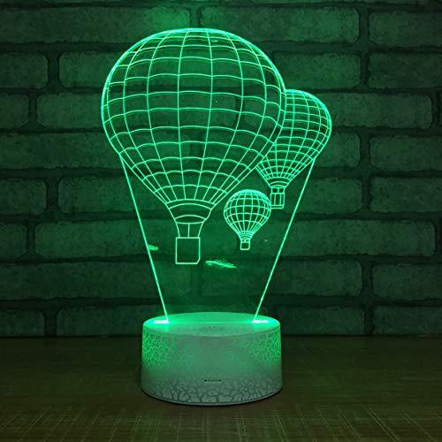Creativo globo de aire caliente novedad altavoz Lmape 3D LED luz de noche USB lámpara de mesa niños regalo de cumpleaños cabecera decoración del hogar