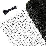 Augoog 2x20m Vogelschutznetz,Wiederverwendbare Anti-Vogel-Gartennetze, Netz zum Schutz vor Vögeln mit 50pcs Kabelbinder für Garten, Balkon oder Teich, Maschenweite:2mm