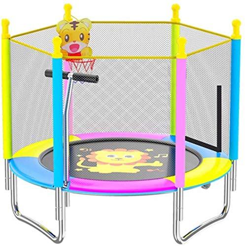 Trampolín de los niños plegables, fitness reboteder trampolines para niños 4 pies trampolín con gabinete de la red de seguridad Trampolines plegables con pasamanos y cestas para niños que saltan entre