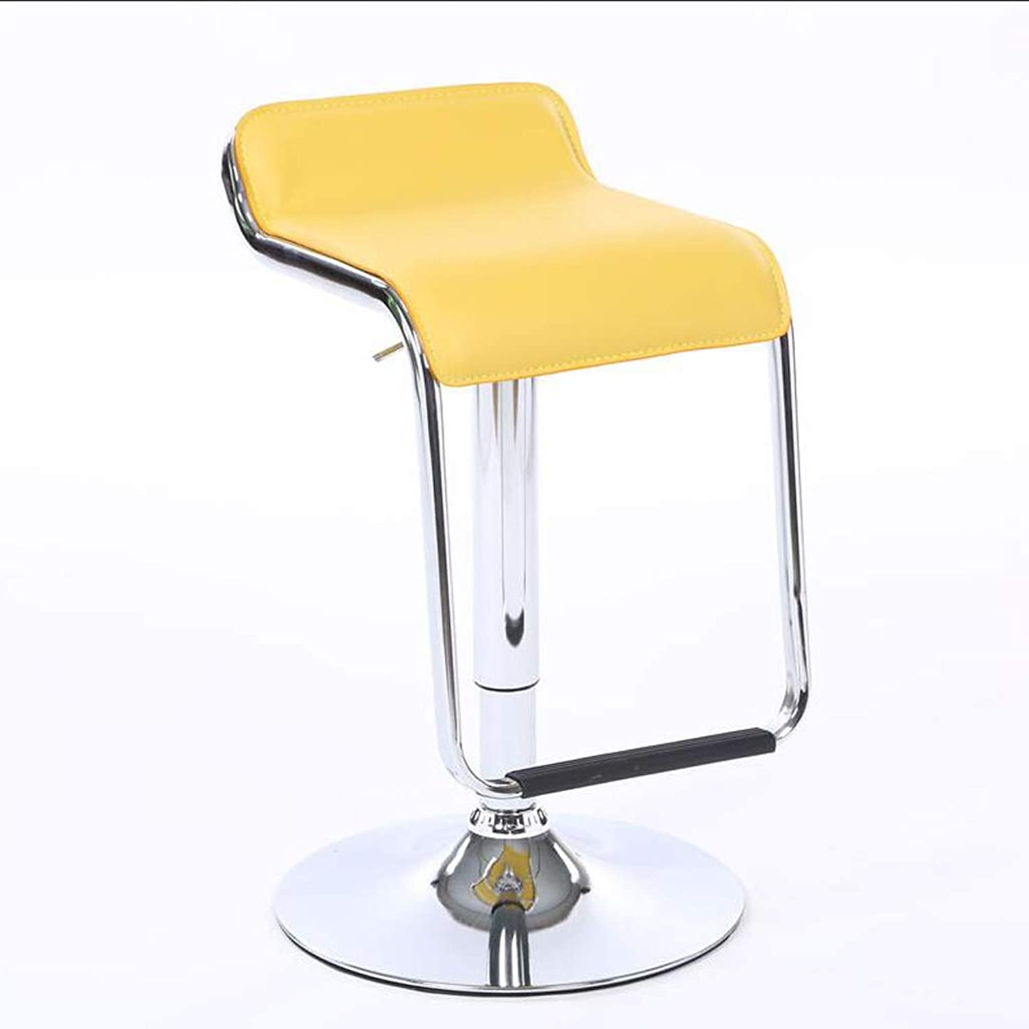 HBJP Modern Minimalist Dining Chair, Chair Lift, redating Stool, Restaurant Chair, Hotel Company Counter Chair, Multi-color Optional bar Chair (color   Yellow)