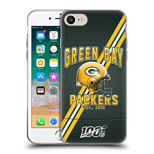 Head Case Designs Offizielle NFL Football Streifen 100ste 2019/20 Green Bay Packers Soft Gel Huelle kompatibel mit Apple iPhone 7 / iPhone 8 / iPhone SE 2020