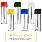 6 Pack Bundle | Premium 3g Tall Safety Spoon Snuff Bullet Spices and Sweetener Portable Travel Storage (Glass and Acrylic) with ConClarity Micro Funnel