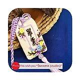 Punto de cruz |DIY Collar Bolsa, Colgante de coche Kits de bordado fácil Estilo chino Costura Punto de cruz Set Costura Artesanía hecha a mano Regalo creativo-12-con aro de plástico