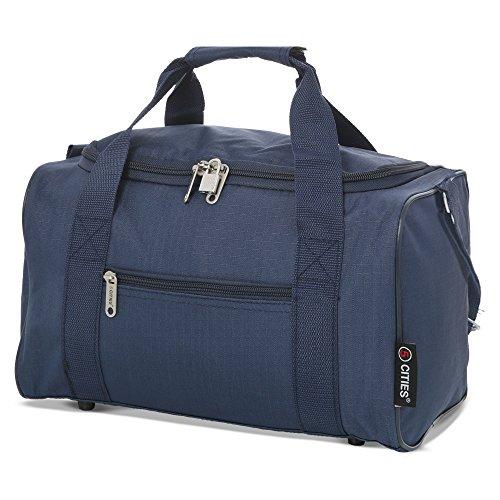5 Cities 5 Cities 35x20x20 Maximum Ryanair Cabin Hand Luggage Holdall Flight Bag (Navy) Borsone 35 centimeters 14 Blu (Navy)