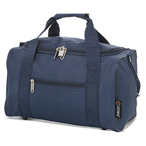 5 Cities 5 Cities 35x20x20 Maximum Ryanair Cabin Hand Luggage Holdall Flight Bag (Navy) Reisetasche 35 Centimeters 14 Blau (Navy)