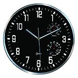 Orium horloge Thermo-hygro Ø30cm 11400, Negro, diam. 300 x 50 mm