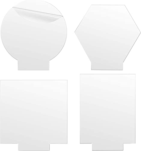 "4PCS Acrylic Sheets for Light Base, Gartful Clear Cast Plexiglass Board, 0.16""(4mm) Plastic Glass Panel for LED Light..."