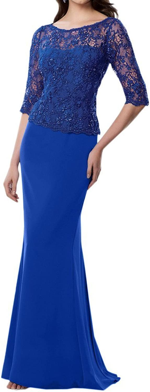 Angel Bride SemiSheer Lace HalfSleeve Formal Floor Length Evening Dress