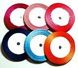 CaPiSo Cinta de raso de 22 m, 6 mm, cinta de regalo, cinta decorativa para Navidad, boda, manualidades (Set 05)