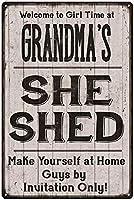 おばあちゃんの彼女は屋内と屋外のホームバーのコーヒーキッチンの壁の装飾のためのビンテージスタイルの金属サイン鉄の絵を流しました8X12インチ