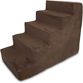 Made in USA Pet Steps/Stairs with CertiPUR-US Certified Foam for Dogs & Cats by Best Pet Supplies