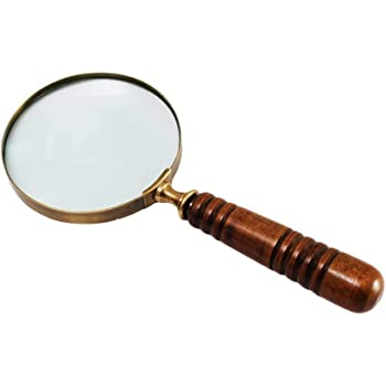 Rocks,Watches Othmro Magnifying Glass with Light Stamps Repair Coins Jewelry Antiques 4X Illuminated Handheld Magnifier 400/% Loupe w Handle,for Book and Newspaper