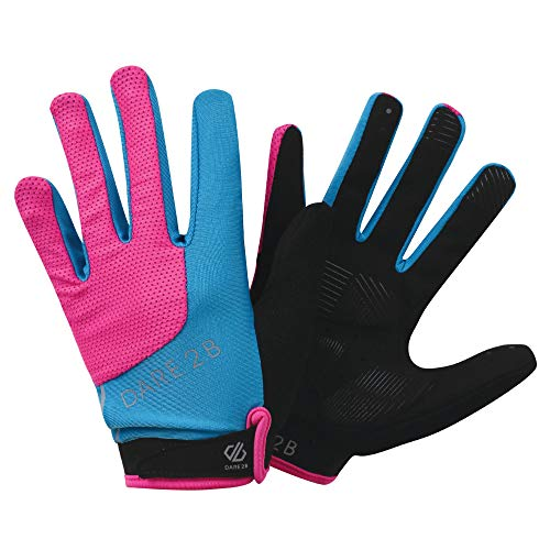 Dare 2b Damen Forcible Lightweight Hardwearing Ergonomic Cycling Handschuh, Cyber Pink, L