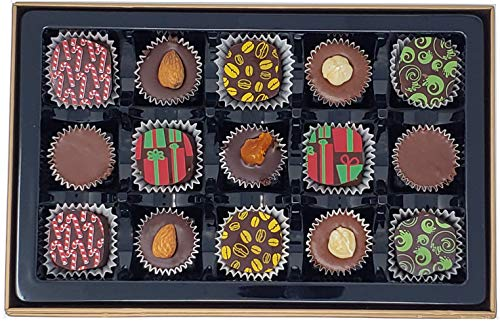 Gluten Free Vegan Dark Chocolate, Halal Certified, with Gift Box, 15 Pieces (Best Halal Restaurants In Los Angeles)