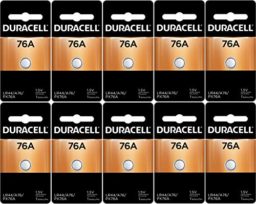 Duracell LR44 Duralock 1.5V Button Cell Battery, (10 Count)