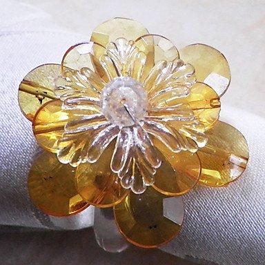 Ch&Ch Crystal Poinsettia Napkin Ring, Set of 12, Acrylic Beads Dia3.5cm