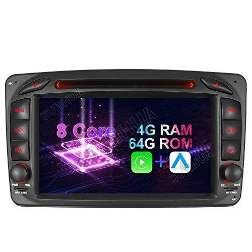 Android 10.0 8-Core, 4GB RAM+64GB ROM, Carplay+ Android Auto DSP 7 Zoll Autoradio Radio DVD GPS Navigation für Mercedes Benz C/CLK KLASSE W203 W209 C209 W209 W463 Bluetooth DAB + WiFi 4G USB AV-Out