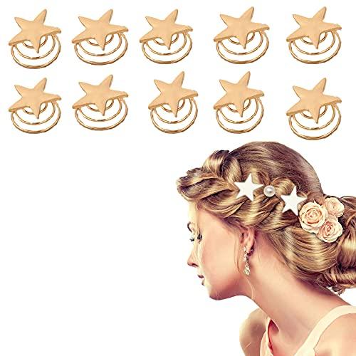 W Weiluogao 10Piezas Moldeadores de Moños En Espiral de Perlas, Horquillas En Espiral de Perlas, Bobinas Giratorias para El Cabello, Accesorios para Bodas, Regalos para Fiestas Nupciales (C)