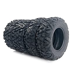 in budget affordable Complete set of 4 ATU VTV universal tires 25×8-12 front and 25×10-12 rear tubeless 6PR tires