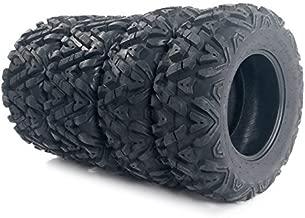 Complete Set of 4 All Terrain ATV UTV Tires 25x8-12 Front & 25x10-12 Rear 6PR Tubeless
