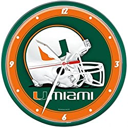 NCAA Miami Hurricaines WinCraft Official Round Clock